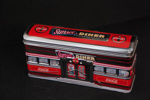 Coca Cola Tin Coke The Sunset Diner Excellent Condition