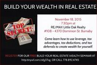 A personal invitation to my FREE 1 hour Wealth Building Seminar
