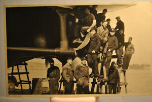 ANTIQUE REAL PHOTO PICTURE POSTCARD MILITARY , SHIPS