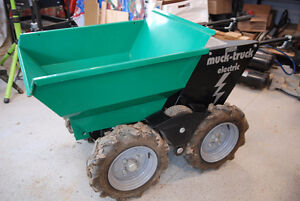 The ULTIMATE WHEEL BARROW-MOTORIZED BATTERY OPERATED MUCK TRUCK
