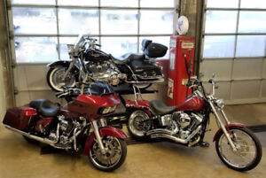 2017 Road Glide Special, 07 Road King Classic, 07 Softail Custom