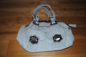 Never Used Makowsky Purse (White With Leopard Print Lining)