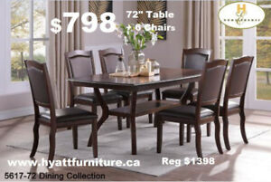 Brand new all 7 pcs Wooden dining set only $798