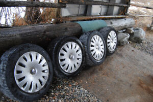 Volkswagon Golf - 4 spare rims with hubcaps