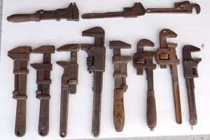 Nice lot of 11 Antique adjustable wrenches / monkey wrenches
