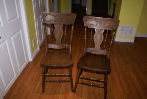 Set of 6 Antique Pressback Chairs