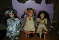 3 Porcelain Dolls