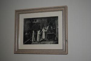 1908 Photogravure Santa Maria Basilica Choir Religious - FRAMED!