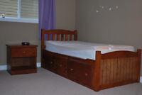 Wood Captains Bedroom Set