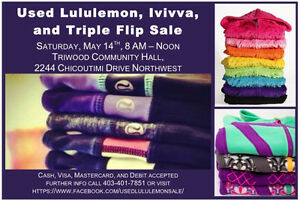 Used Lululemon, Ivivva & Triple Flip Sale, May 14, 8-12pm
