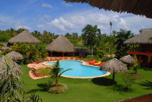 Beach front apartment at Las Terrenas, Samana