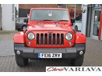 2016 Jeep Wrangler 2.8 CRD X Edition 4dr Auto Diesel red Automatic