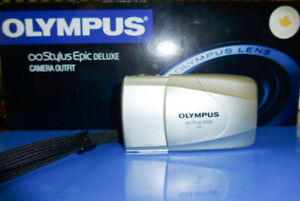 Exc Olympus Stylus Epic Deluxe (mju ii) Film Camera (35mm, f2.8)