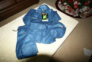 NWT 3 Piece Boys Rain Suit Navy FROGG TOGGS Size 3 Years