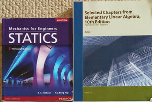 First Year U of A Engineering Books