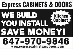 CABINET BOXES & DOORS - CUSTOM SIZES - 1 WEEK PICK UP
