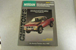 Chilton repair manual for Nissan Pick ups and Pathfinders 1970-1