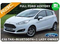2013 Ford Fiesta Zetec ~Full Ford History~£30 TAX~Facelift Model~Finance Avail