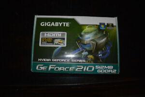 Gigabyte GeForce 210 512 MB GDDR2 Video Card