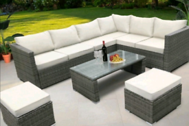 New Rattan Garden Furniture Full Set includes Cushions.. Fixed Price