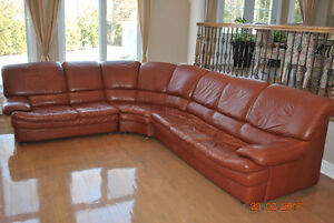 large italian leather sofa 200