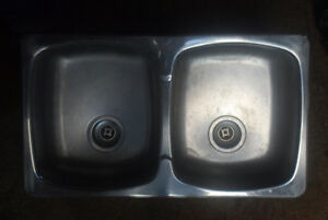 Double Stainless Steel Sink 3 years old
