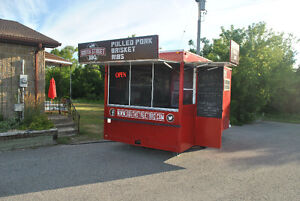 Concession/Food Trailer + BBQ Smoker and Custom Trailer