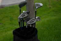 Left Hand set Stingray 2 irons, TNT driver, tartan bag