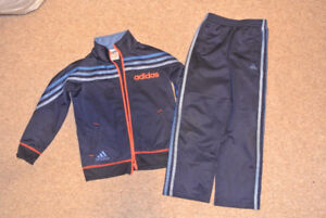 Adidas Navy and Orange Track Suit Size 6