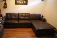 Faux Leather sectional sofa