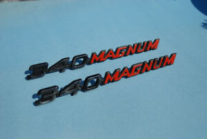 NOS 72-73 CHARGER 340 MAGNUM NAMEPLATE EMBLEM BADGE SET OF 2