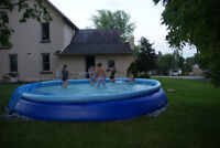 Swimming pool, only 1 season used,last year. complete.