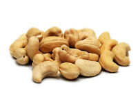 Raw and shelled cashew nuts