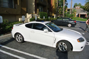 White Hyundai Tiburan SE coupe 2006 (Rust-free California Car)