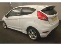 2012 WHITE FORD FIESTA 1.6 ZETEC S PETROL 3DR HATCH CAR FINANCE FR £20 PW