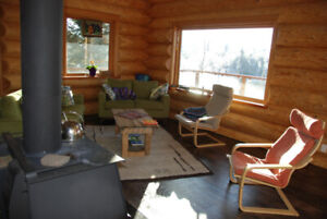 Log home for rent McLeese Lake May 15 - July 15