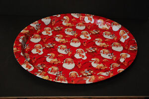 Three Santa Claus Tin Trays Edmonton Edmonton Area image 1