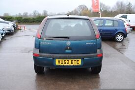 vauxhall corsa 1199cc 52 plate spares or repairs needs coilpack and front windscreen may swap