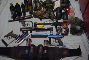 Paintball markers, paintball equipment, and some extras