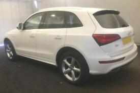 2014 WHITE AUDI Q5 2.0 TDI 150 QUATTRO S LINE DIESEL MANUAL CAR FINANCE FR 67 PW