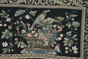 "Belgian / Flemish Tapestry - Aristolochia Leaves - 35"" x 26"" - 1"