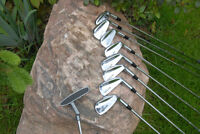 RT hand set of North Western Irons and Wilson putter