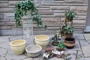Artificial Plants, Pots and Stands