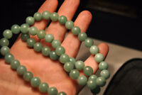 Natural Emerald Green Jade Jadeite Beads Necklace