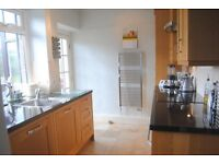 FITTED KITCHEN PLUS APPLIANCES, OAK DOORS WITH GRANITE TOPS. DISHWASHER, OVEN, ELECTRIC HOB, FRIDGE.
