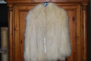 Luxurious lamb fur coat