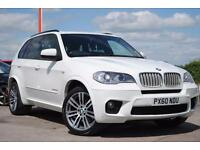 2010 (60) BMW X5 XDRIVE 4.0d M SPORT White Automatic 4x4
