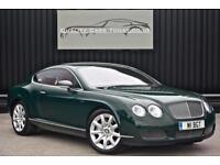 Bentley Continental GT 6.0 W12 * Barnato Green + Saddle Hide + Just 21k Miles *