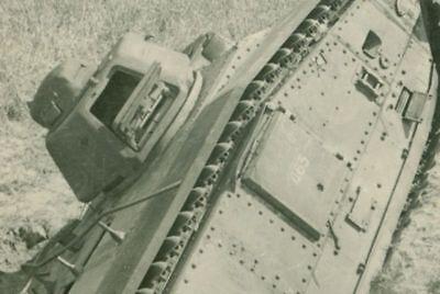 Abandoned French Char B1 Tank, France 1940,  WW2, Original Photo