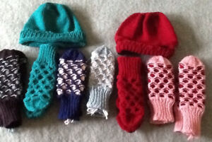 MITTS: CHILDREN $8, 3/$20;  ADULTS $10, 2/$15; HATS $5